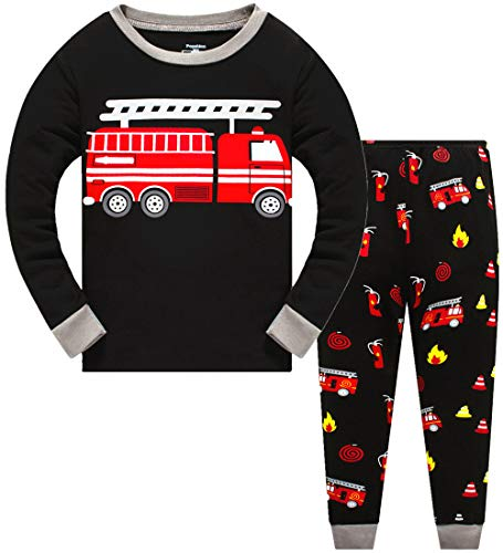 Image of Cotton Fire Truck Pajamas for Boys - See More Designs