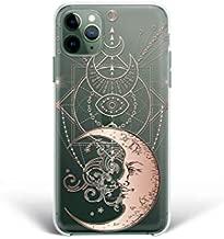 Kaidan iPhone X XR XS SE 2020 Esoteric Case Crescent Moon 12 Mini 11 Pro Max 6 6S 7 8 Plus Samsung Galaxy S20 Ultra S8 S9 S10 + Eye Lunar Phase Note 9 10 20 Lite Google Pixel 4 XL Compatible LG mdp96