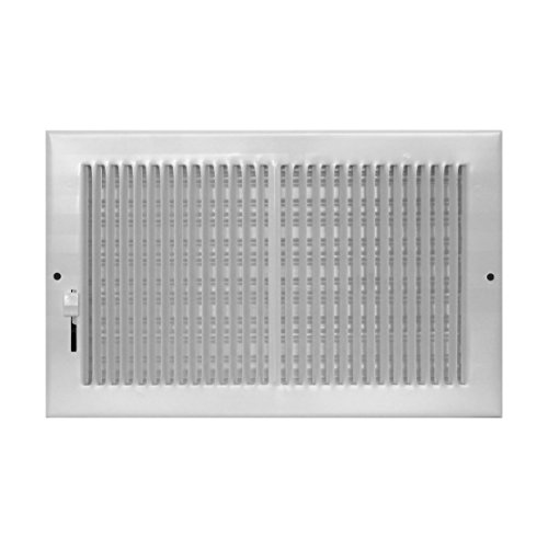 Accord AB3BRWH106 Baseboard Register with 1/3-Inch Fins Louvered Design, 10-Inch x 6-Inch(Duct Opening Measurements), White