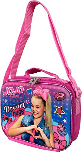 Group Ruz JoJo Siwa Girls 3D Insulated Lunch Box with Shoulder Strap