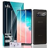 LϟK 5 Pack Protector de Pantalla para Samsung Galaxy S10 con 2 Pack HD Película de TPU y 3 Pack Protector de Lente de Cámara - Sin Burbujas Huella Digital Ultrasónica