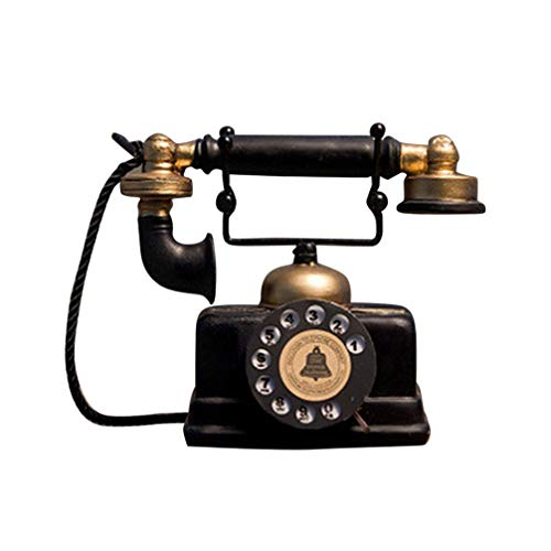 Garneck Vintage Telefon Figur Retro Telefon Modell Künstler Antike Telefon Ornament für Home Cafe Bar Store Dekoration