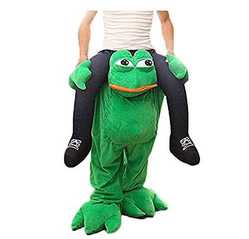 SANEYDER Halloween-Frosch-Kostüm, Reiten, Schulter, Cosplay, Maskottchen, Kostüm