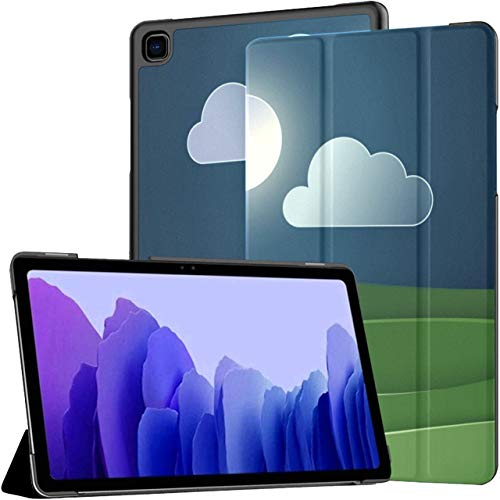 Funda para Tableta Samsung Galaxy Tab A7 de 10,4 Pulgadas 2020 (sm-t500 / t505 / t507), Arte en Papel y Concepto de Origami de Vector de Paisaje Cubierta de Soporte de ángulo múltiple con activación