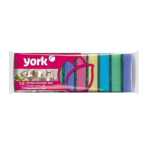 York YZMYMIDI keukenspons midi, 10 stuks, 80x50x25 mm grootte