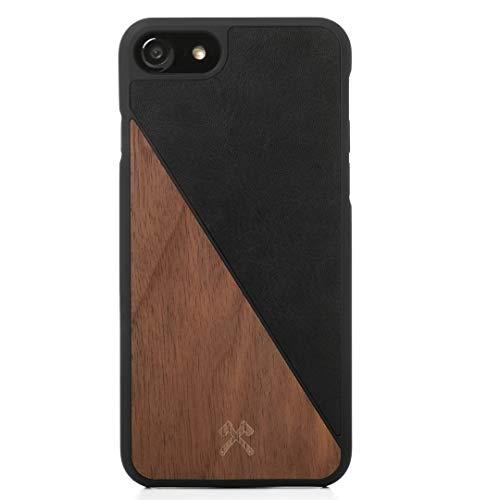 Woodcessories - Hülle kompatibel mit iPhone 6 / 6s aus Echtholz - EcoSplit Case (Walnuss/Schwarz)