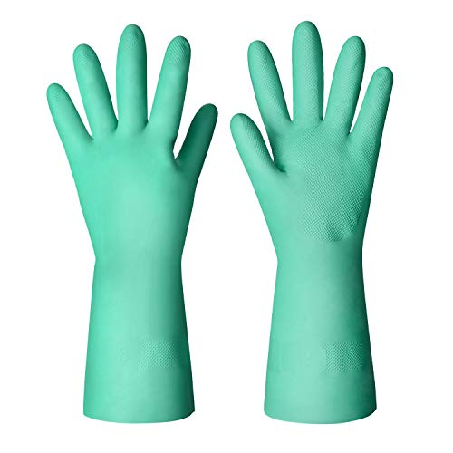 ThxToms Nitrile Dishwashing Gloves, Household Kitchen Cleaning Gloves, Latex Rubber Free, Large, 3 Pairs