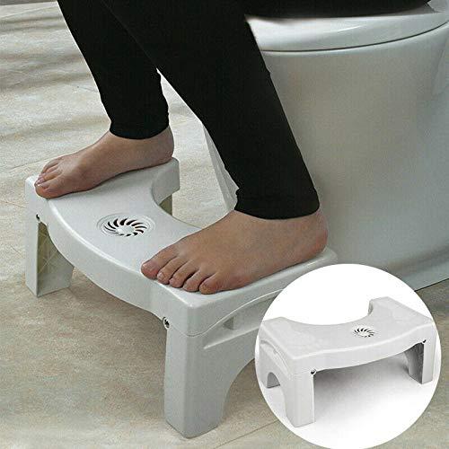 NGHXZ Asiento de Inodoro de baño Plegable Asiento Squatty Potty Taburete de Inodoro Plegable portátil Multifuncional