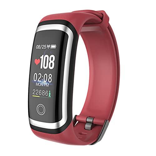 EXEDSCEND Smart Band, Fitness Actividades Tracker con Pantalla a Color de 0.96', 24/7 Monitor de Ritmo cardíaco Continuo 24/7 Seguimiento de sueño Reloj Inteligente con batería Larga Vida,Rojo