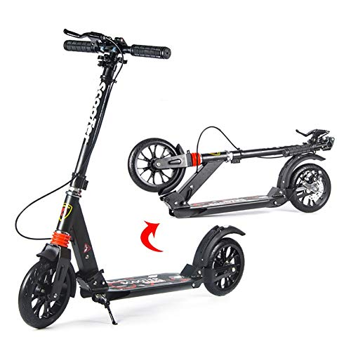 Great Features Of Scooter Kick Folding Adult Kick with Large PU Wheel, Adjustable Dual Shock-Absorbi...