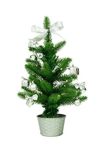 Best Season LED Árbol de Navidad con decoración, plata, ap
