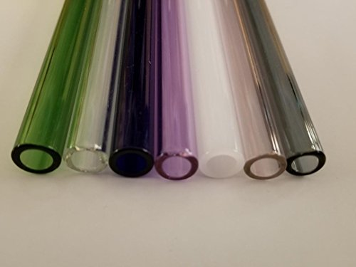 8' Borosilicate Glass Blowing Tubing 7 Colored Tubes 12mm OD 2mm Thick Wall Tube
