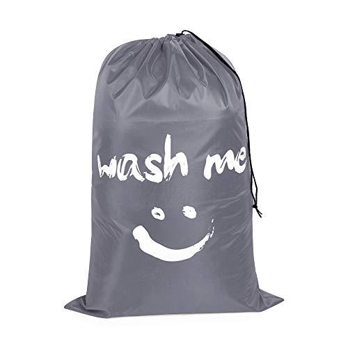 rooteroy shihao159 Mode Nylon faltbar Falten Korb für Wäsche Waschbeutel (Waschbeutel) schmutzige Kleidung Beutel zur Lagerung(Grey)