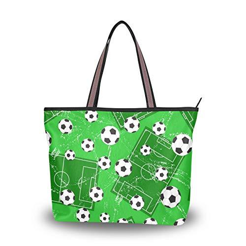 NaiiaN Bolso de mano para cancha de baloncesto de fútbol para madres, mujeres, niñas, señoras, bolsos para estudiantes, bolsos de hombro, monedero para compras, correa liviana