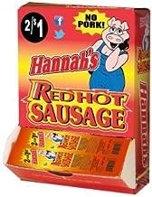 Hannah's Red Hot Sausage - 2/$1 - No Pork - 50 Unit Box