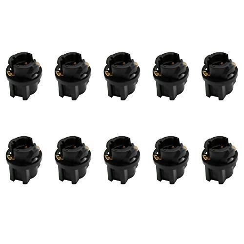T5 Twist Socket Light Bulbs Plug for Car Instrument Panel Cluster Dash 10pcs