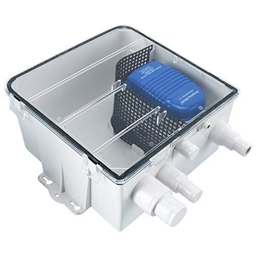 Amarine Made 12 V 750 GPH Dusche Ölwanne Pumpen-System Box Mehrere Einlässe Ablauf Kit Automatische Tauchpumpe Marine Boot Unterwasserpumpe