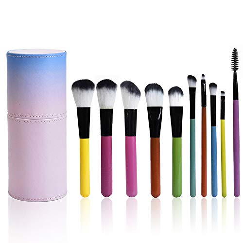 MPKHNM 10 dégradé rose cylindre brosse de maquillage brosse de maquillage beauté maquillage kit brosse de maquillage fille mignonne coréenne