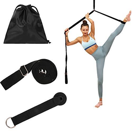 miuse Yoga-Gurt, Beinspreizer, Beinstrecker Dehnungsband für Ballett, Tanzen & Gymnastik Training(Black)