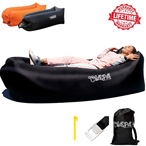 ChillPill Inflatable Lounger Comfortable Blow Up...