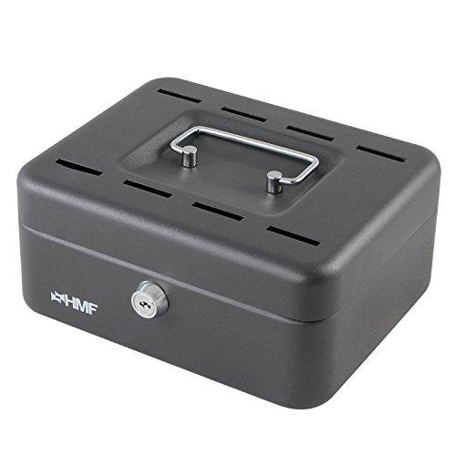 HMF 3088 Hucha, 8 Ranuras de Depósito, Caja de Ahorros, 20 x 15 x 8,5 cm, Caja de Caudales, Colore Negro