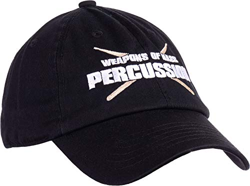 Product Image 2: Ann Arbor T-shirt Co. Weapons of Mass Percussion | Funny Drum Drummer Music Band Men Women Baseball Dad Hat Black