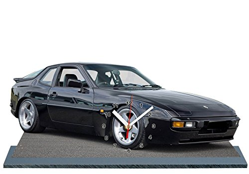 Auto, Porsche 944, Miniatur Modell Motorrad in der Uhr 07