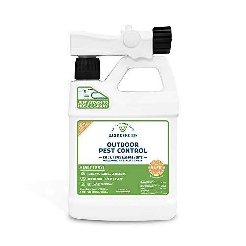 Wondercide - EcoTreat Ready-to-Use Outdoor Pest Control Spray with Natural Essential Oils - Mosquito and Insect Repellent, Treatment, and Killer - Plant-Based - Safe for Pets, Plants, Kids - 32 oz