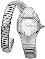 Just Cavalli Signature Snake Serpente Solo Stainless Steel Watch JC1L177M0015 - Quartz Analog for Women in Stainless...