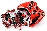 Einuz Carcasa completa cromada de repuesto para Xbox 360 controlador inalámbrico de piel compatible con carcasa protectora incluye destornillador t8 t6