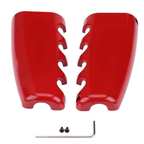 KSTE aluminiumlegering rood handrem afdekking van de stopcontacten Trim compatibel met Ford Mustang 2015-2017