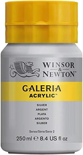 W&N : Galeria : Acrylic Paint : 250ml : Metallic Silver
