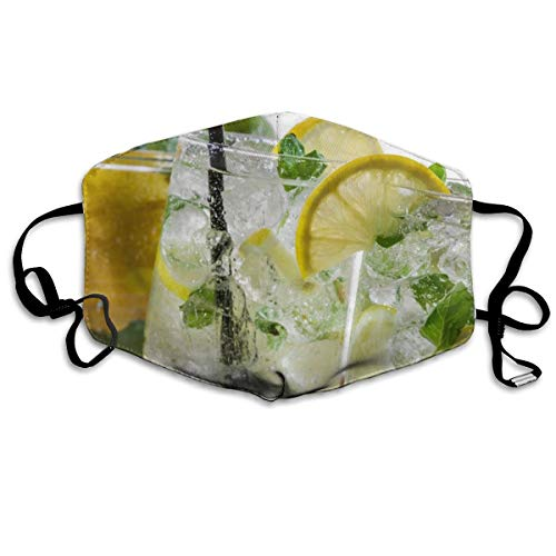 Mojito Cocktail Citroen Ijs Drank Unisex Volledige Coverage Buis Gezichtsmasker Bandanas UV Bescherming Hals Gaiter Hoofdband