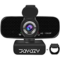 Joyozy 1080P Full HD USB 2.0 Webcam with Microphone and Privacy Cover