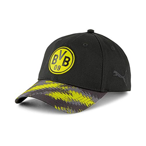 PUMA BVB Iconic Archive Fußball Baseballcap Puma Black-Cyber Yellow OSFA