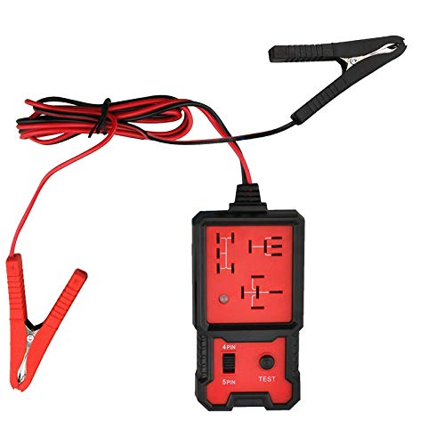 HZWZ 12v Universal Electronic Automotive Relay Tester, Auto Relay Analyzer, Checker Tester with Clips Diagnostic Tool, for Car Auto Battery Checker