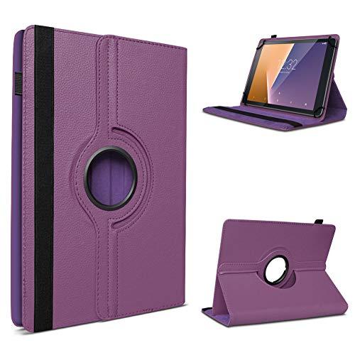 UC-Express Tablet Hülle kompatibel für Vodafone Tab Prime 6/7 Schutzhülle aus Kunstleder Tasche mit Standfunktion 360° drehbar Universal Cover Hülle, Farben:Lila