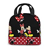 Portable Mickey Mouse Lunch Bag Insulated Cooler Tote Box for Travel/Picnic/Work/School