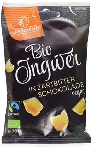Landgarten Bio Ingwer in Zartbitter-Schokolade, 70 g