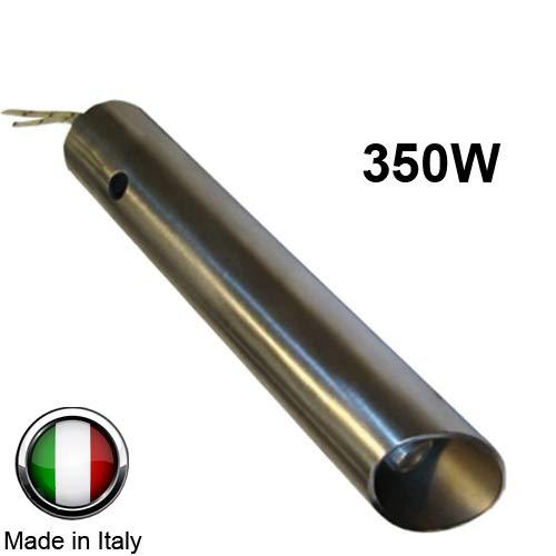 Ferroli Anselmo Cola Bougie d'allumage pour poêle à pellets, 350W, 120mm/130mm, diamètre 16mm/25mm