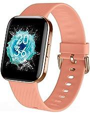 Smartwatch, fitnesstracker met hartslagmeter, activity tracker horloge met slaapmonitor, high-definition touchscreen voor dames en heren smart horloge mode smartwatches, geschikt voor Android en IOS