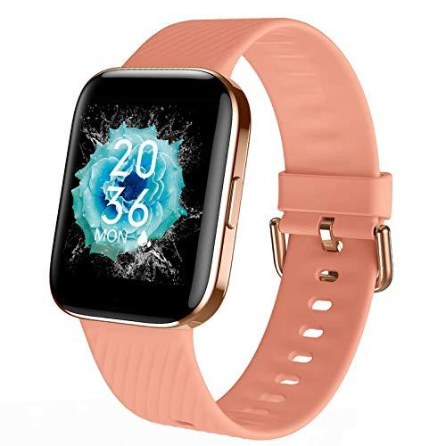 Smartwatch - Reloj Inteligente Mujer Impermeable con Cronómetro, Pulsera Actividad Inteligente para Deporte, Reloj de Fitness con Podómetro Smart Watch Mujer Hombre para Xiaomi Huawei Android iOS