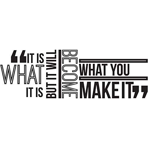 My Vinyl Story [Revised] It is What it is Inspirational Wall Decal Quote Inspired, Motivated, Positive, Motivational Office Wall Decor Wall Art Vinyl Wall Decal School Words and Saying 42x14 In.