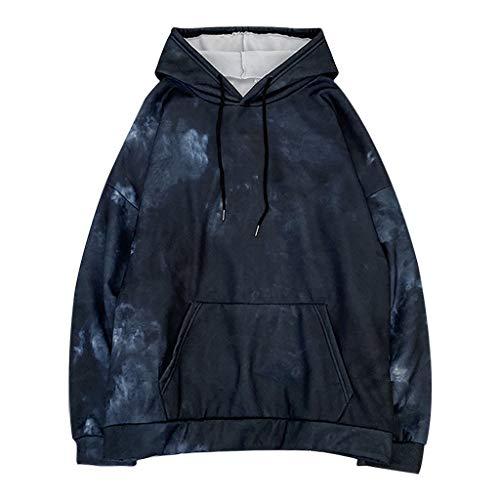TOFOTL Tie-Dye Print Damen Langarm Casual Sweatshirt Plus Size Damen O-Neck Langarm Casual Sweater