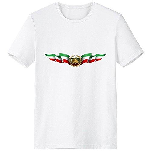 DIYthinker Italia Emblema Nacional Símbolo del País Marca Escote De Patrón De La Camiseta Blanca Primavera Y El Verano De Tagless La Comodidad del Algodón Se Divierte Las Camisetas