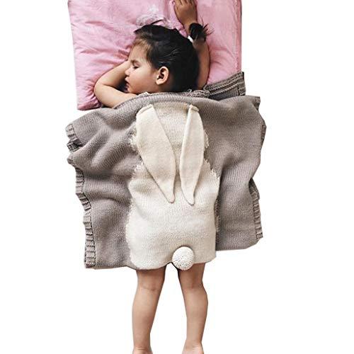 JUEJIDP Mantas de Recepción Unisex para Bebés, Mantas Acogedoras de Animales Eencantadores para Bebés Recién Nacidos y Niños Pequeños, Manta de Bebé Súper Suave y Cálida para Cochecito,Gris