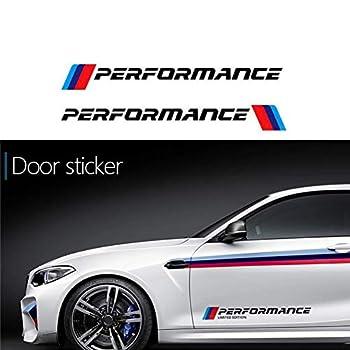 Duoles 2PCS Car Door Sticker Decal for BMW M3 M5 X1 X3 X5 X6 E36 E39 E46 E30 E60 E92 Series  Black