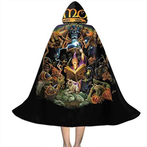 KUKHKU Original Simon The Sorcerer Cover Art Unisex Niños Capa con Capucha para Halloween Decoración de Fiesta de rol Cosplay Disfraces Outwear