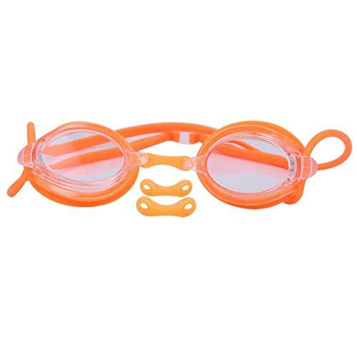 DAUERHAFT Equipo de natación Gafas de natación Crystal Clear Vision, para Nadar, para Hombre(YG07 Orange)