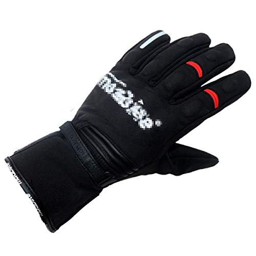 Gants De Course À Écran Tactile Gants Moto De Imperméables Único Gants Chauds Pour Cavalier De Moto (Color : Black1, Size : M)